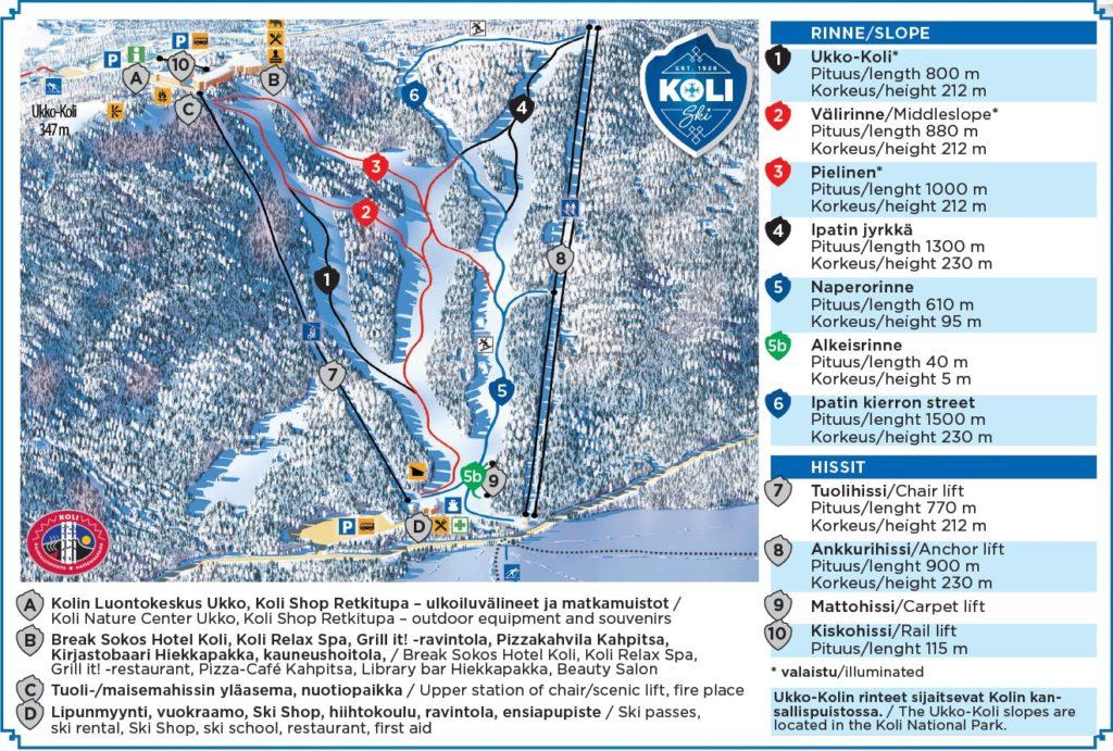 Лыжные склоны национального парка Коли, Финляндия