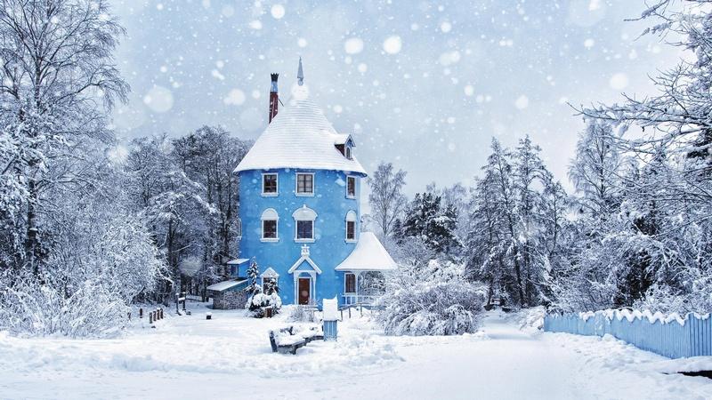 Парк Муми троллей зимой