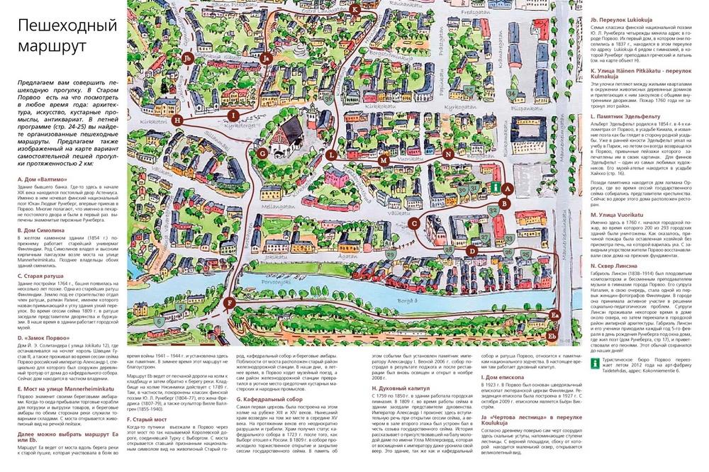 Что посмотреть в Порвоо за 1 день: карта самостоятельно пешеходного маршрута