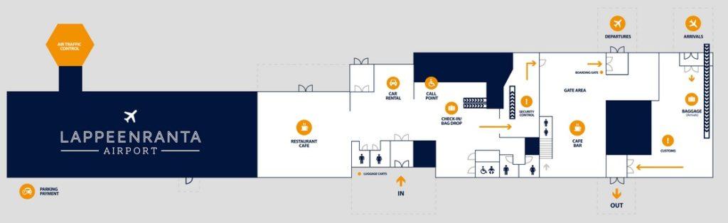 Схема аэропорта Лаппеенранта