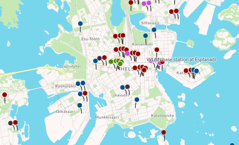 Бесплатный Wi-Fi в Финляндии, карта точек доступа