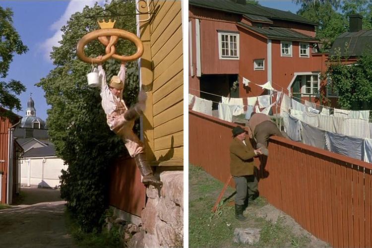"Кадры из фильма ""За спичками"", 1979 год, место съемок - город Куркийоки"