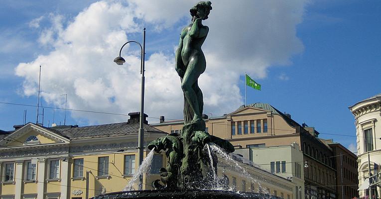 Фонтан Хавис Аманда в Хельсинки