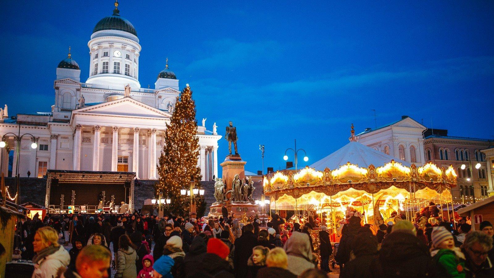 Новогодняя ярмарка в Финляндии