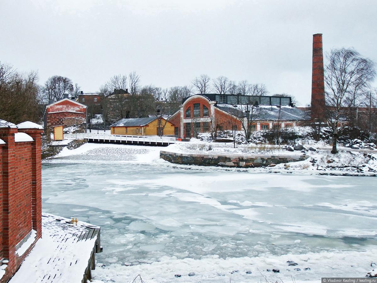 крепость Суоменлинна зимой