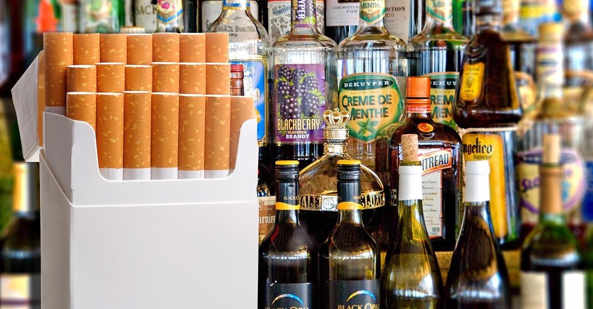 Алкоголь и табачные изделия