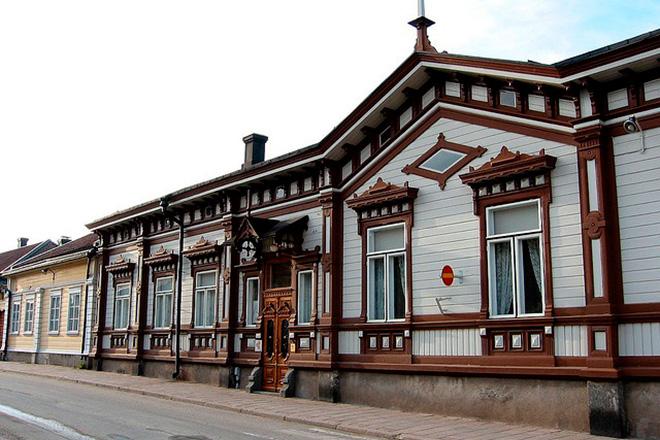 Город Раума в Финляндии