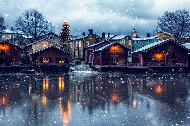 Рождественская ярмарка в Порвоо