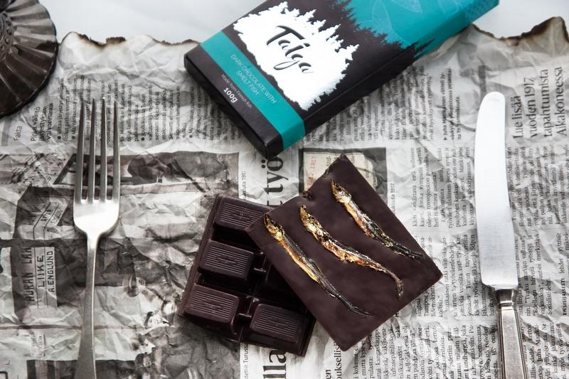 Финский шоколад с рыбой