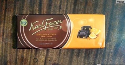 Финский шоколад Фазер с апельсинами