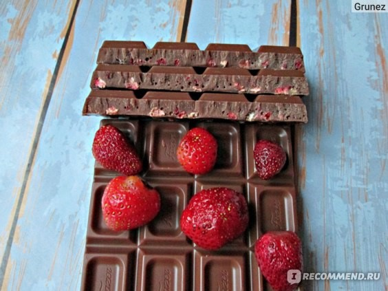 Шоколад Karl Fazer с клубникой