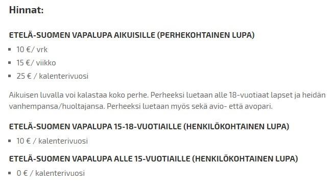 стоимость финской рыбалки
