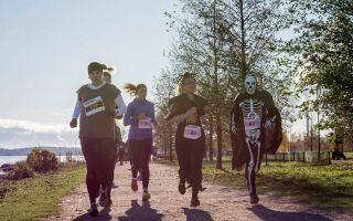 В столице Финляндии состоялся забег «Helsinki Halloween Run»