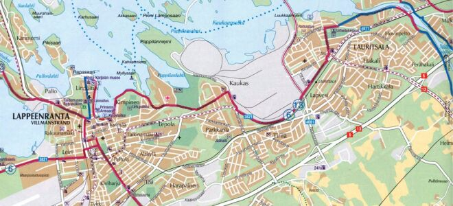 Карта Лаппеенранты